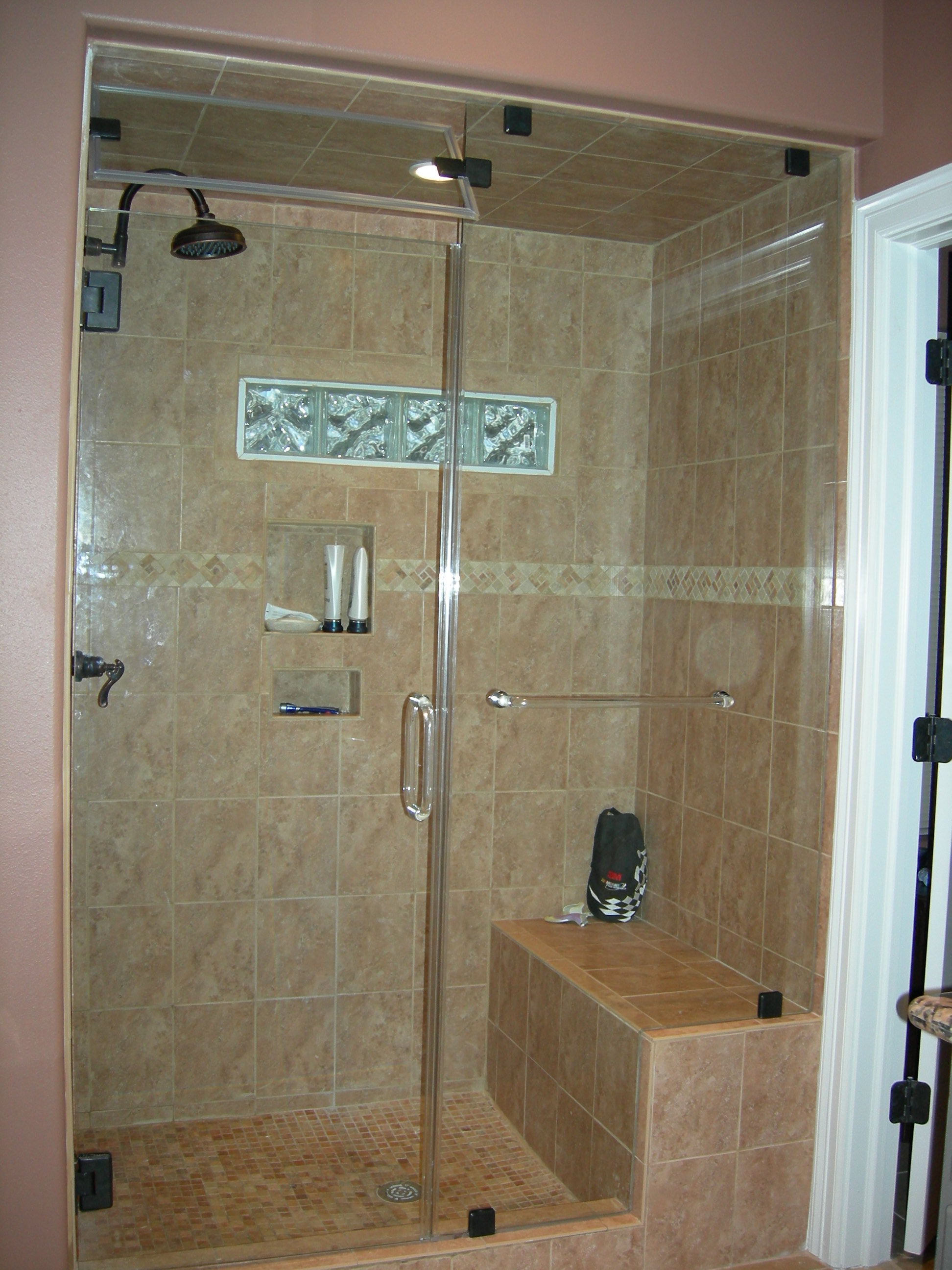 shower guard glass diamond fusion glass